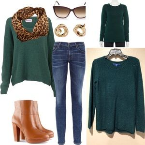 NWT Apt9 Green sequin sweater💚